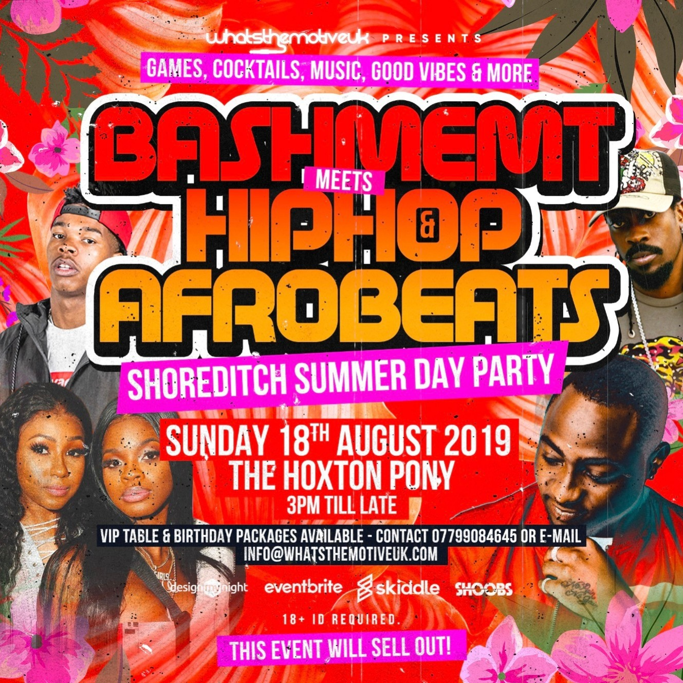 Bashment Meets Hip-Hop & Afrobeats Summer Day Party