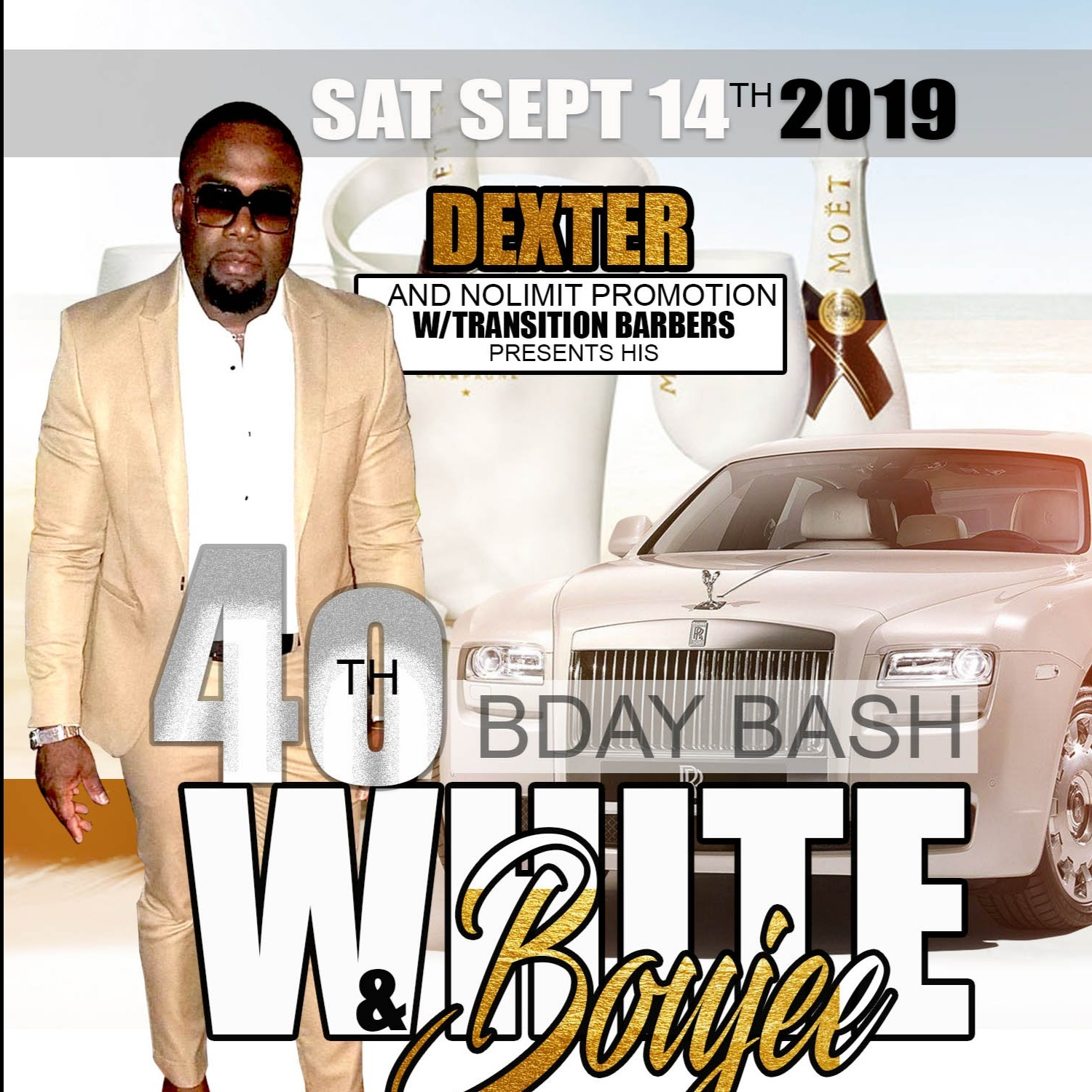 Dexter 40th Birthday Bash- White & Boujee