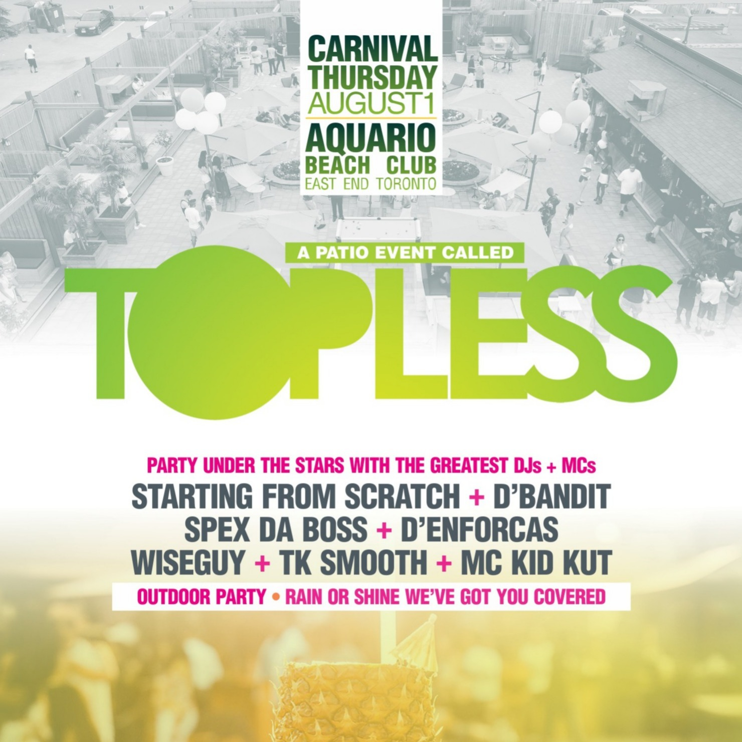 TOPLESS | Carnival Thursday Patio Party 2019