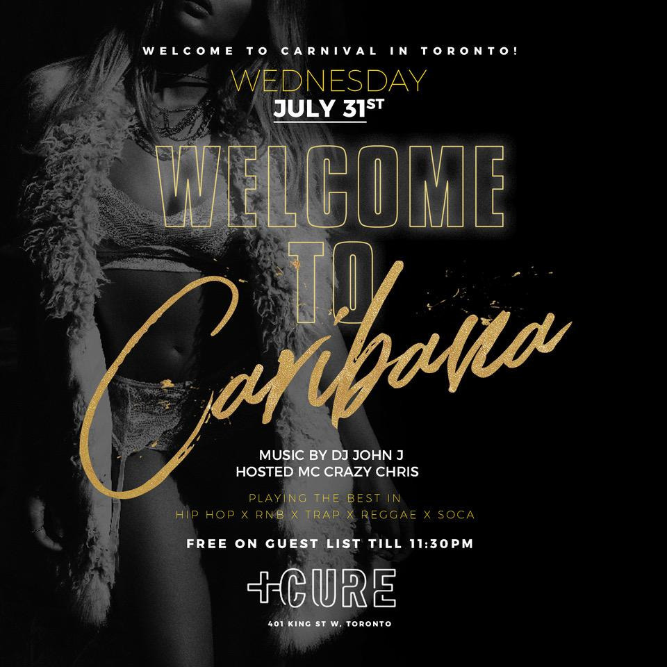 WELCOME TO CARNIVAL @CURE NIGHTCLUB - FREE GUESTLIST!