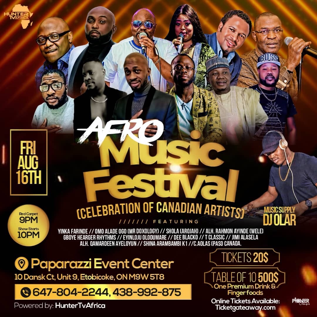Afro - Music Festival - Celebration of Canadian Artists
