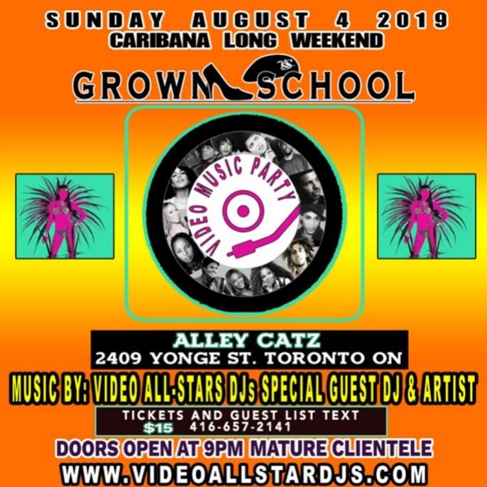 GROWN SCHOOL VIDEO MUSIC PARTY CARIBANA
