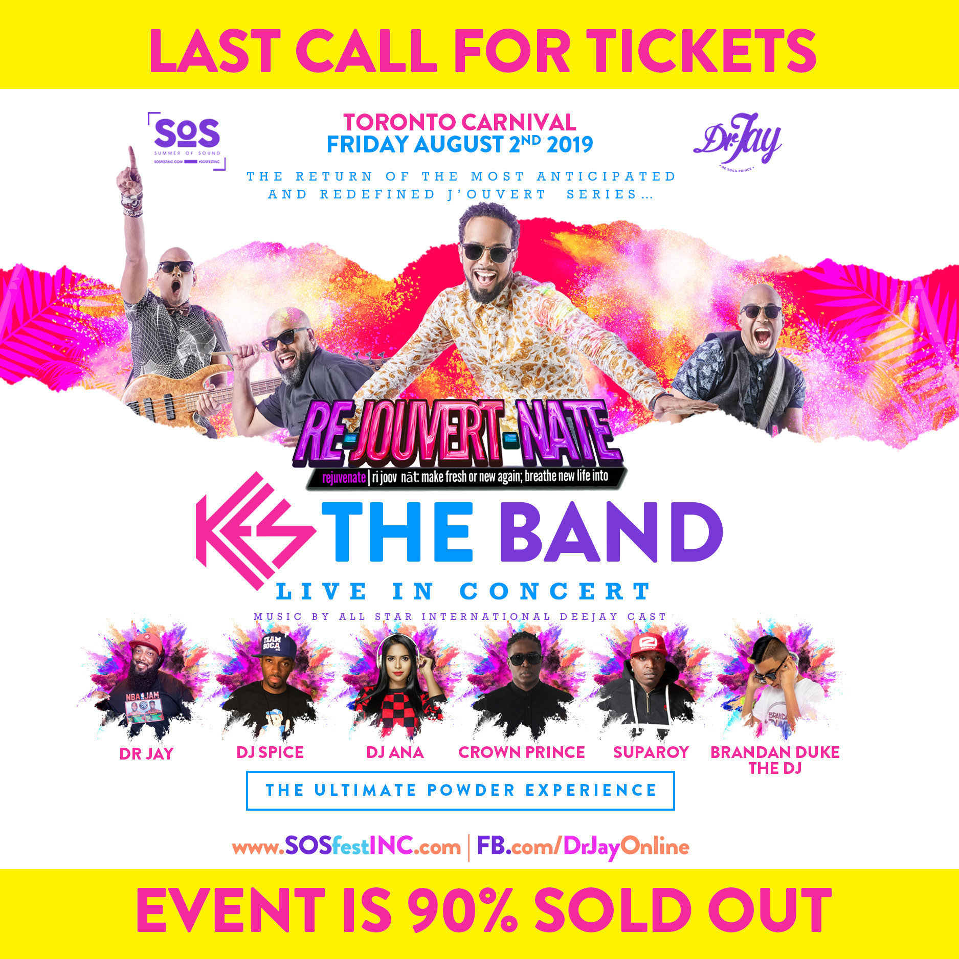 RE JOUVERT NATE | SOS FEST and Dr JAY | KES THE BAND Live in Concert