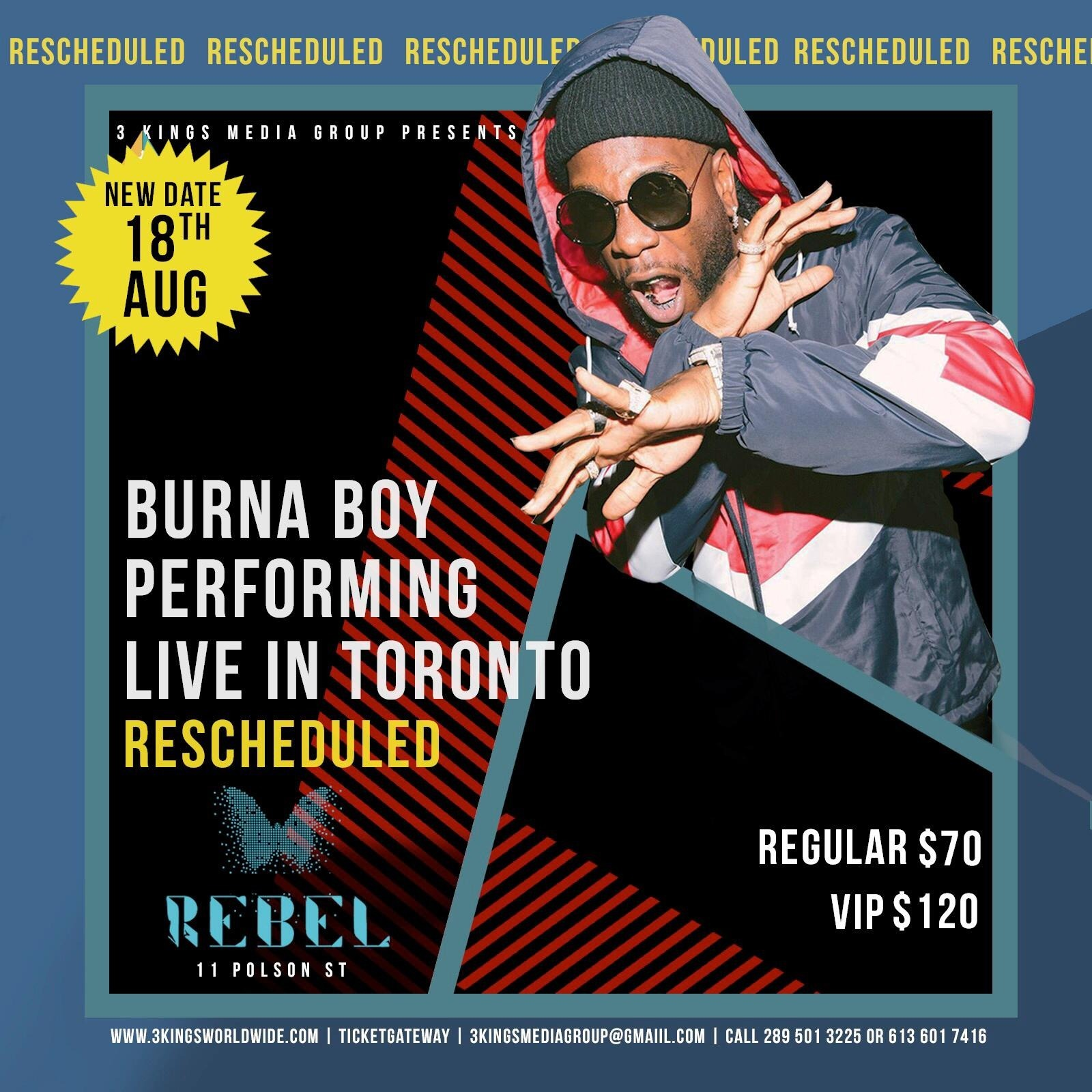 BURNA BOY LIVE IN TORONTO TICKETS 2019 | Live CONCERT