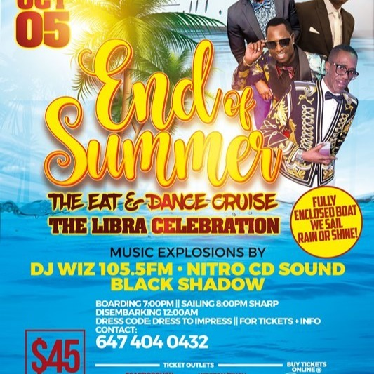 End Of Summer - Eat And Dance Cruise 2019