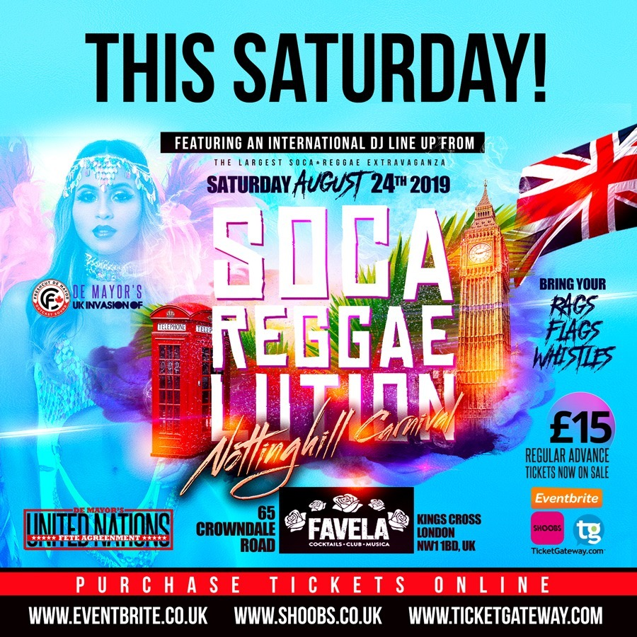 SOCA REGGAELUTION UK INVASION