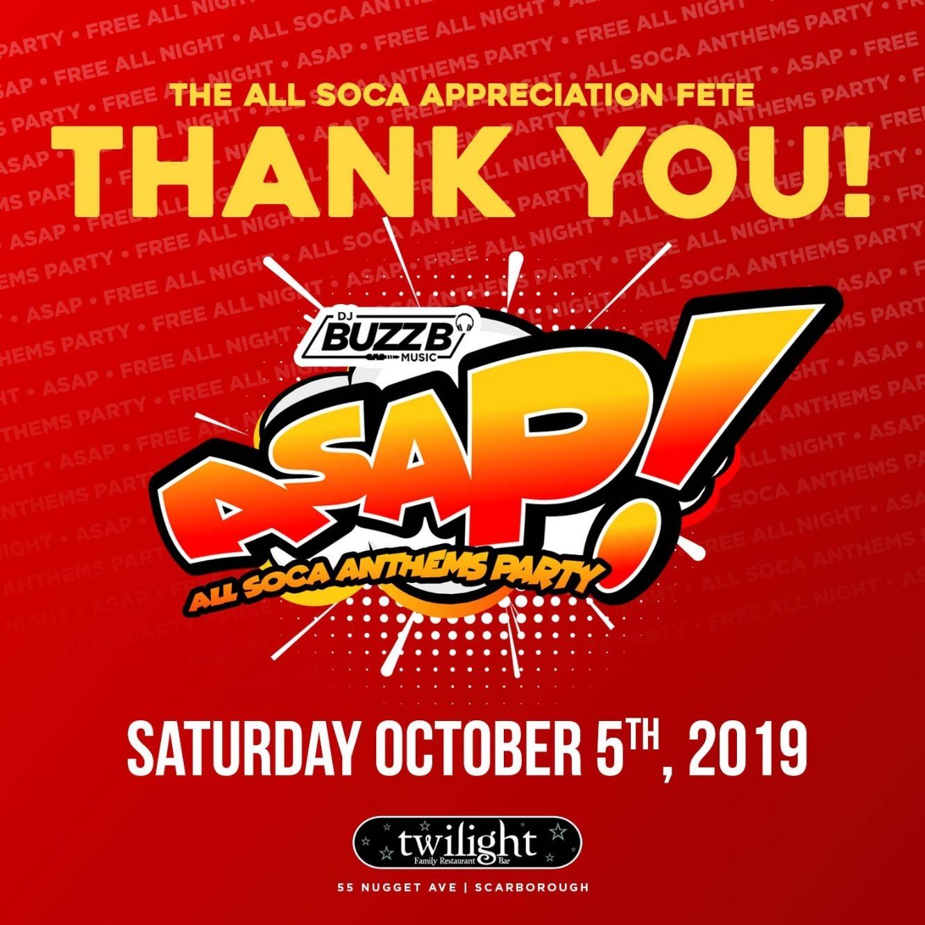 ASAP - ALL SOCA APPRECIATION PARTY EDITION