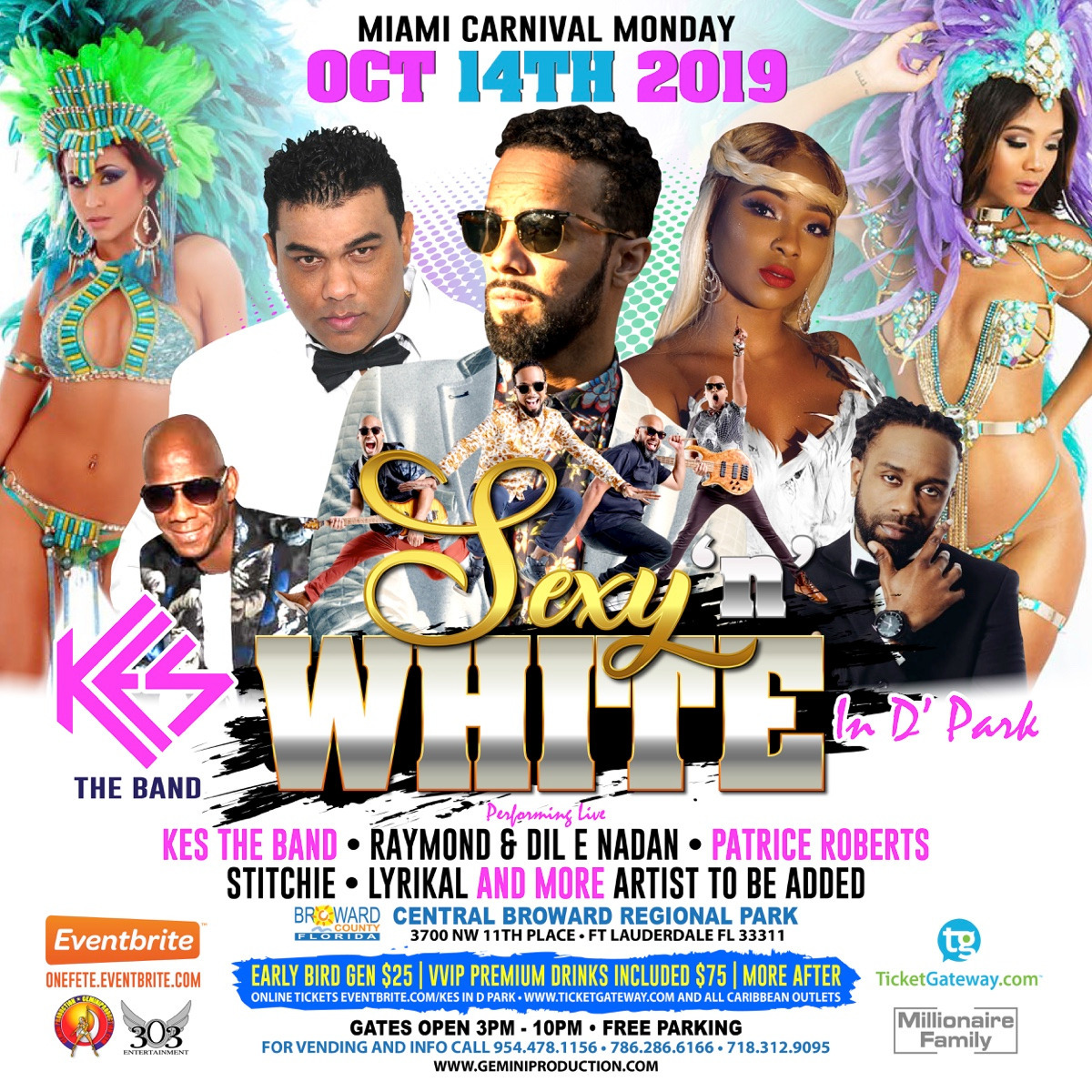 KES THE BAND IN D PARK - MIAMI CARNIVAL MONDAY 2019