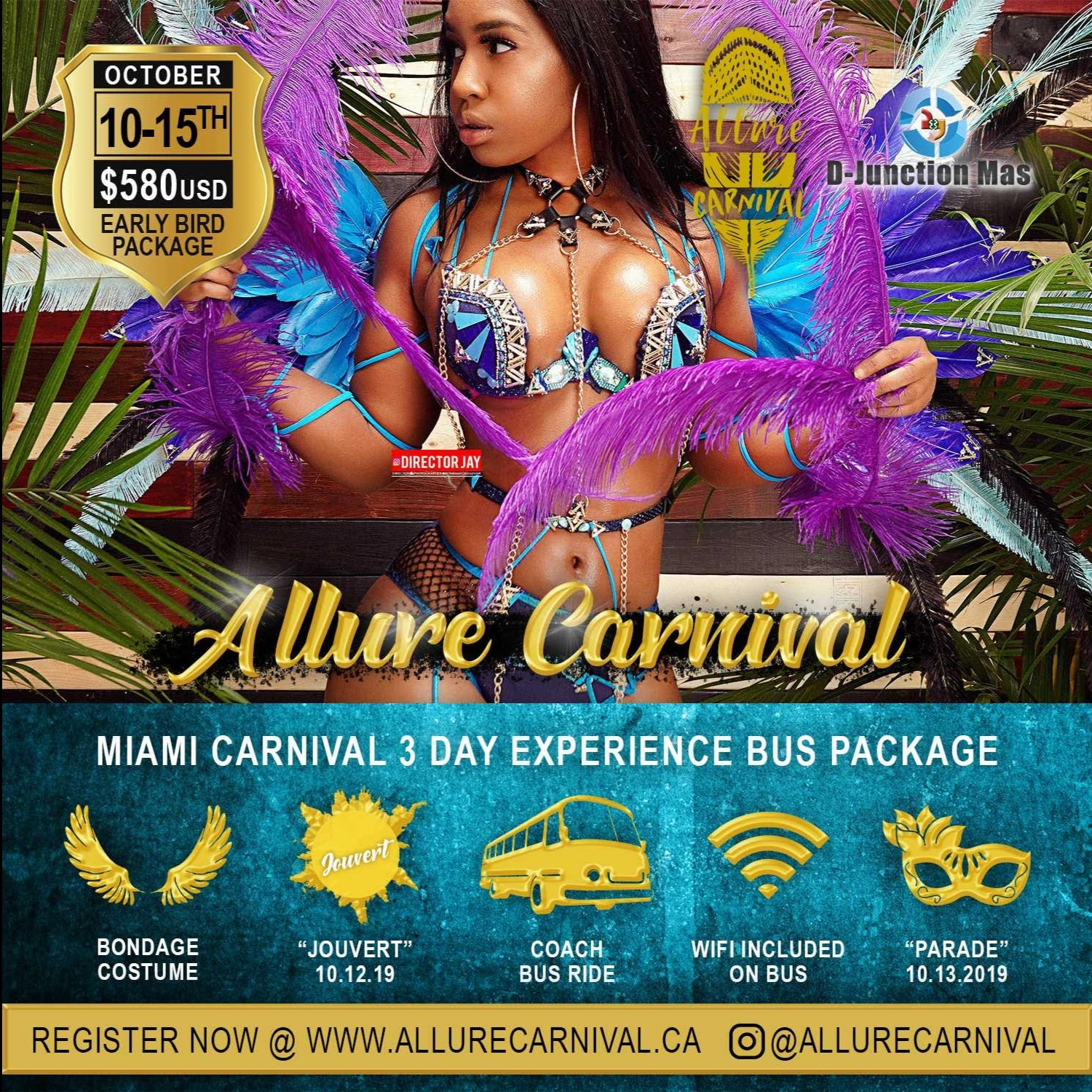 Miami Carnival 2019  Costume and Bus Package For Miami Broward carnival