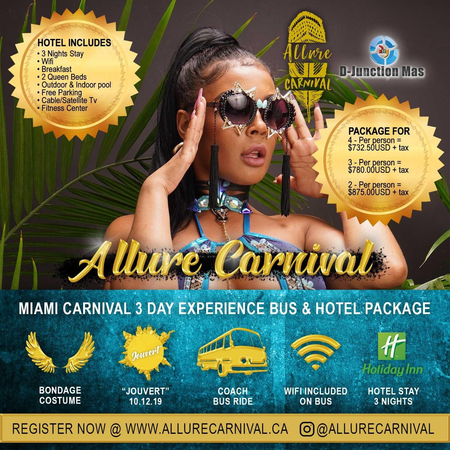 Miami Carnival 2019  Costume,Bus Package & Hotel For Miami Broward carnival