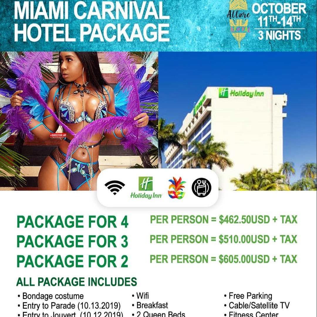 Miami Carnival 2019  Costume, Hotel Package l For Miami Broward carnival