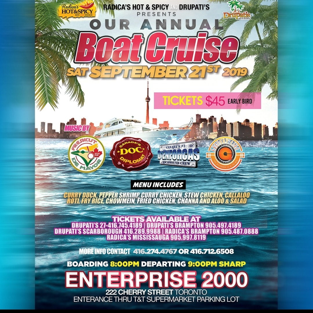 Radica's Hot & Spicy and Drupati's Boat Cruise