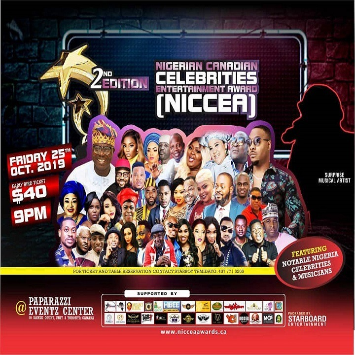 Nigerian Canadian Celebrities Entertainment Award 2019