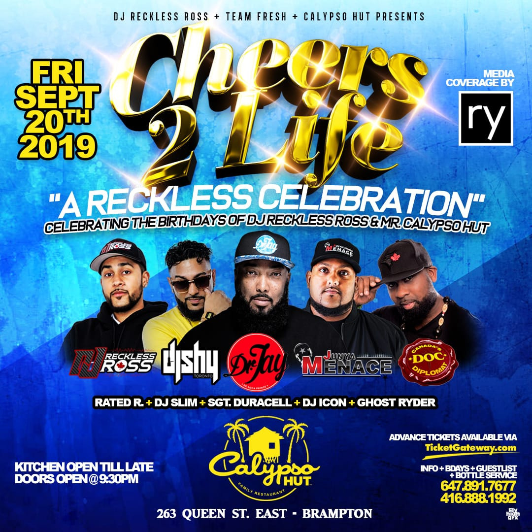 FRESH FRIDAYS- DR JAY, DOC, DJ SHY, JUNYA MENACE + @CALYPSO HUT (BRAMPTON)
