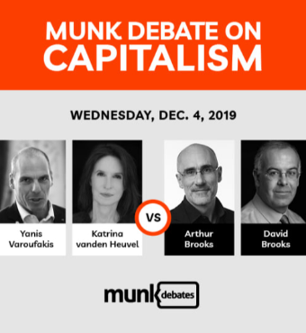 Munk Debate On Capitalism In Toronto Tickets   2019 Dec 04